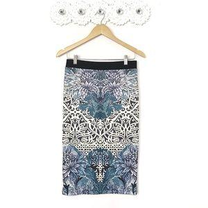 NWT Topshop Floral Pencil Skirt Sz 6